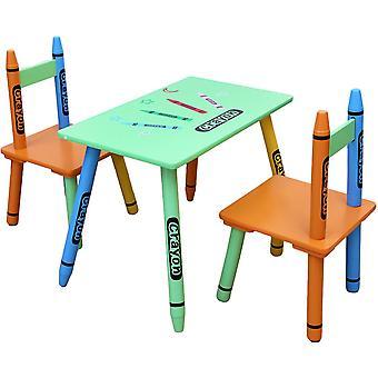 Kiddi Style Crayon Table Et 2 Ensemble de chaise