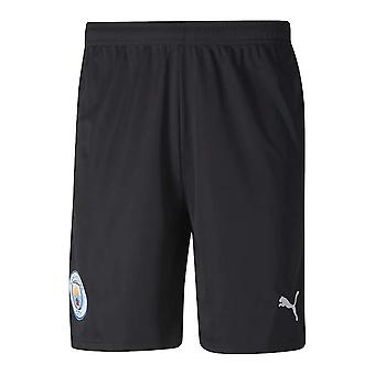 2020-2021 Manchester City Home Goalkeeper Shorts (Black)