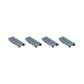 RudyTwos 4 x ersättning för Brother TN2120 Toner enhet svart (Extra hög avkastning) kompatibel med DCP-7030, DCP-7040, DCP-7045N, HL-2140, HL-2150, HL-2150N, HL-2170, HL-2170W, MFC-7320, MFC-7340, MFC-734