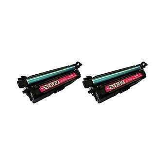 החלפת 2x RudyTwos עבור HP 507A טונר תואמת מגנטה עם LaserJet Enterprise 500 M551n, M551d, M551dn, M551x, M551xh, צבע MFP M570dw, זרימת צבע MFP M575c, צבע MFP M575dn, צבע