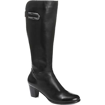 Regarde Le Ciel Womens Heeled Leather Knee High Boots