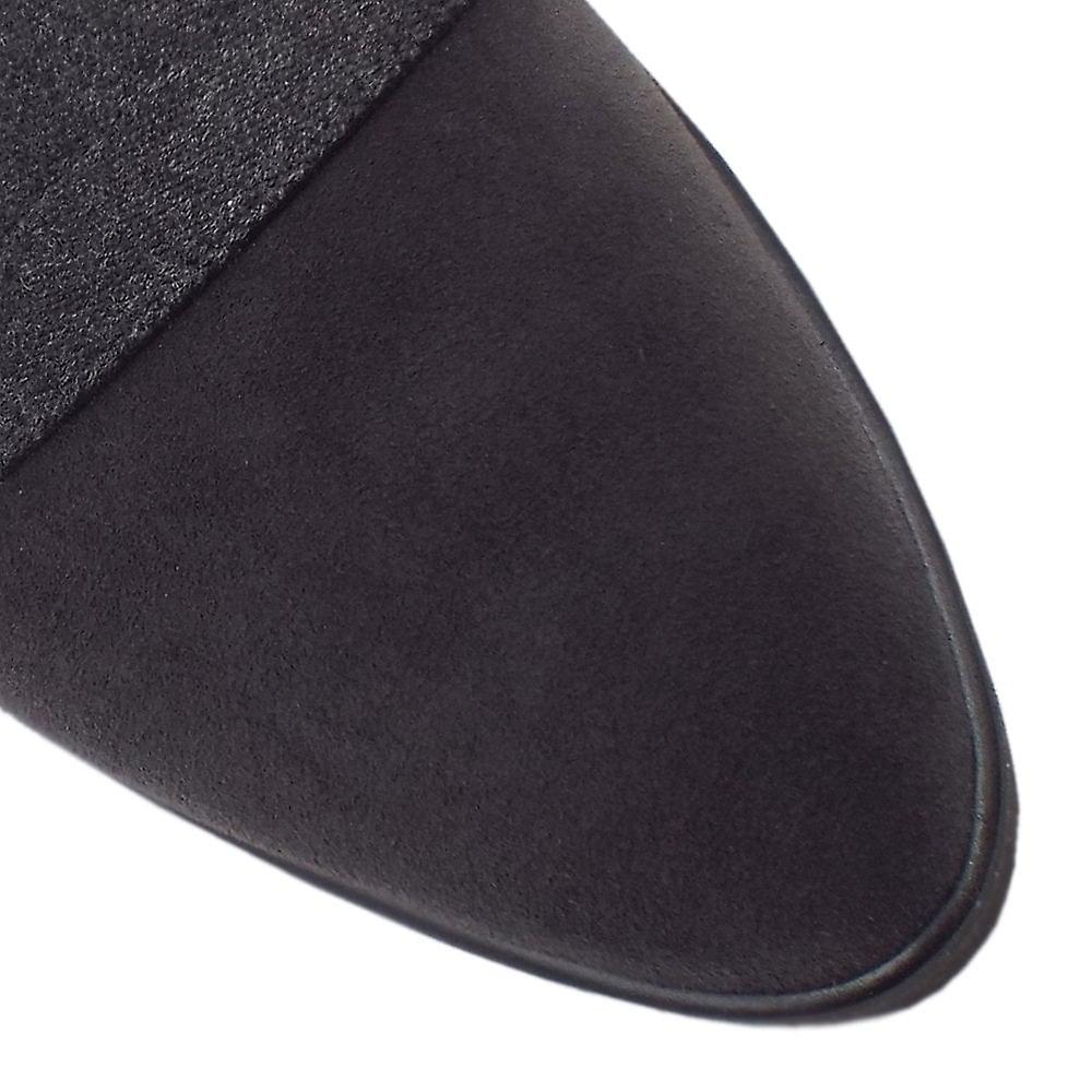 Peter Kaiser Nona Comfortable Wide Fitting Shoe In Carbon Suede