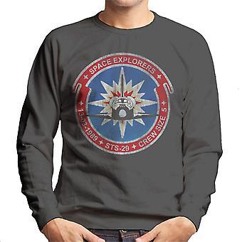 NASA-STS-29 Entdeckung Mission Abzeichen Distressed Herren Sweatshirt