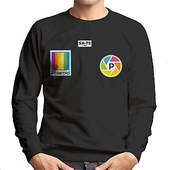 Polaroid Logo Badges Homme-apos;s Sweatshirt