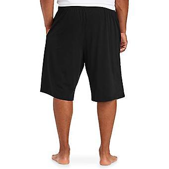 Essentials Men & apos&s Big & Tall Knit بيجامة شورت شورت، -أسود، 3XL