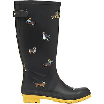 Joules Womens Welly Print Waterproof Rubber Wellington Boots