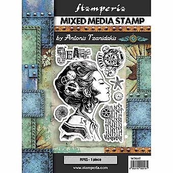 Stamperia Mixed Media Stamp Lady