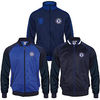 Chelsea FC Officiel Football Gift Mens Retro Track Top Jacket