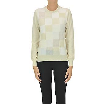 Comme Des Garçons Ezgl046022 Femme's Beige Wool Sweater