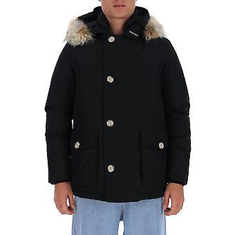 Woolrich Woou0272mrut0001blk Miesten & s Musta Nylon Down Jacket