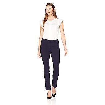 Merk - Lark & Ro Women's Slim Leg Stretch Pant: Comfort Fit, Navy, 0