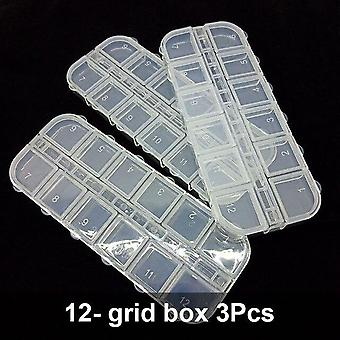 Transparent Simple And Convenient For Crystal Beads - Nail Art Accessories Tools Layered Box