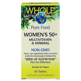 Natürliche Faktoren, ganze Erde & Meer, Frauen's 50+ Multivitamin & Mineral, 60 Tisch