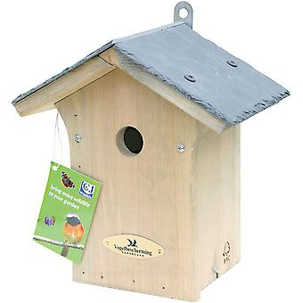 CJ Wildlife Portland Slate Roof Nest Box 28mm Hole (fsc)