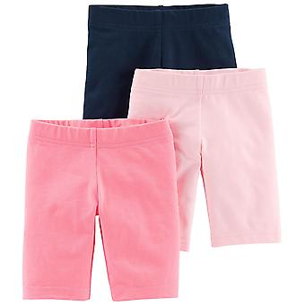 Simple Joys by Carter's Toddler Girls' 3-Pack Bike Shorts, Pink, Navy, 4T