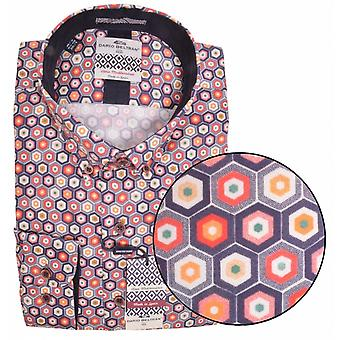 DARIO BELTRAN Dario Beltran Hexagon Pattern Shirt