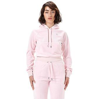 Juicy Couture Sally Diamante Velour Hoodie Pink 70