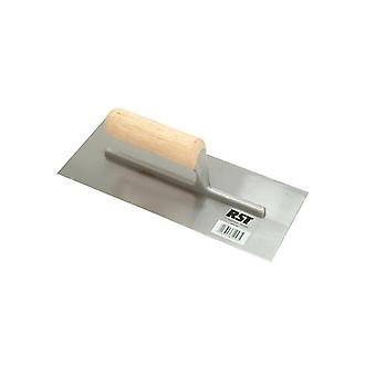 R.S.T. Plasterers Finishing Trowel Straight Wooden Handle 11 x 4.1/2in RST124C