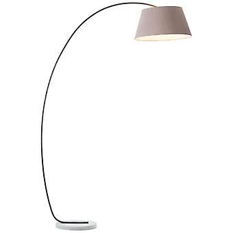 BRILLIANT Lampe Brok Buet stand lampe 2,0 m brun / grå | 1x A60, E27, 60W, egnet til normale lamper (ikke inkluderet) |