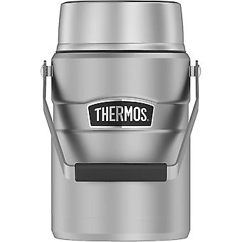 Thermos 47 oz Stainless King Big Boss Food Jar w/ 2 Inner Containers-Matte Steel