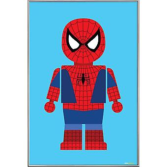 JUNIQE Print - Spiderman-lelu - Spider-Man Juliste Sininen & Punainen