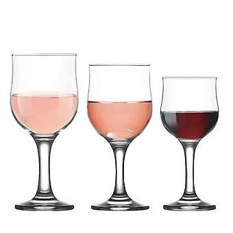 LAV Nevakar Pequeñas / Medianas / Grandes Copas de Vino - Set de 18 Goblets Stemware para Vino Blanco Vino Tinto