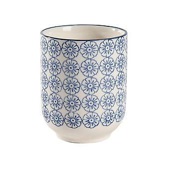 Nicola Frühling Hand gedruckt Porzellan Becher - japanischen Stil Druck - 280ml - blau