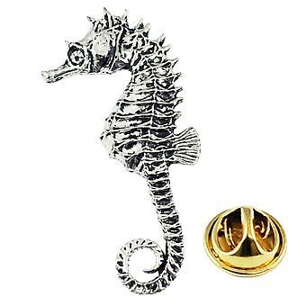 Ties Planet Seahorse inglese Pewter Lapel Pin Badge