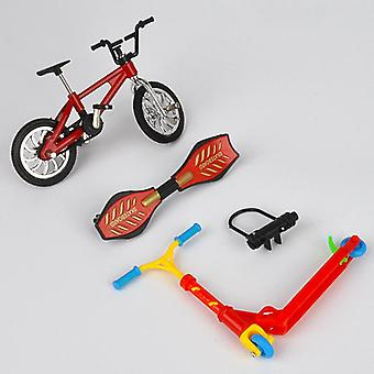 Mini Two Wheel Scooter Bike Fingerboard Skateboard For Children's Educational Toy