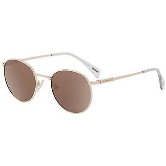 Dirty Dog Sneak Satin Polarised Sunglasses - Light Gold/Brown
