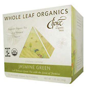 Choice Organic Teas Whole Leaf Organic Tea, Jasmine Green 15 bags
