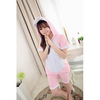 Unisex Adult Pajamas Cosplay Costume Animal Onesie Sleepwear Suit Summer