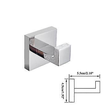 Bathroom Hardware Set, Chrome Robe Hook Towel Rail Bar, Shelf Tissue Paper