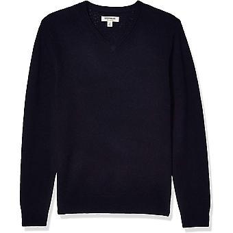 Marke - Goodthreads Men's Lambswool V-Neck Pullover, Navy XXX-Large