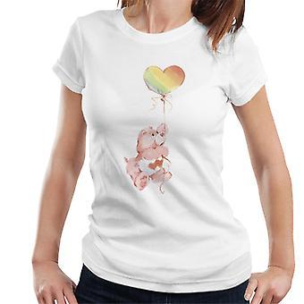 Hoito karhut rakkaus paljon karhu sateenkaari ilmapallo naiset't-paita