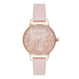 Olivia Burton Ob16mv84 Semi Precious Rose Quartz, Rose Sand & Rose Gold Vegan Ladies Watch