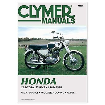 Clymer M321 Manual for Honda 125-200CC Twins 65-78
