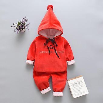 طفل عيد الميلاد خريف صدرية دافئة + سترة + السراويل
