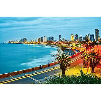 Wallpaper Mural Sunset View of Tel Aviv