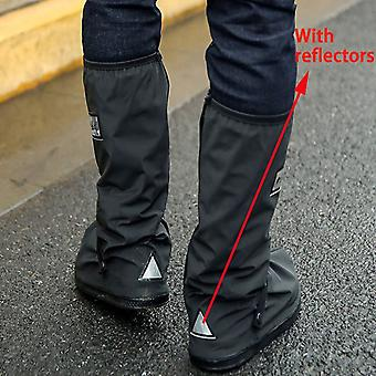 High Top Waterproof Shoes Covers For Motorcycle, Cycling, Bike Rain Boot Rain