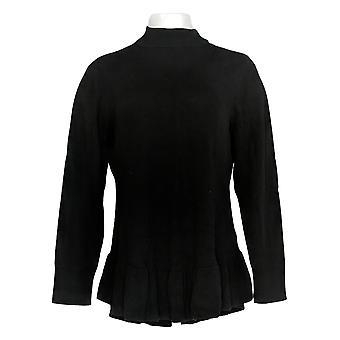 アイザック・ミズラヒライブ!女性&アポス s セーター モックネック ロング スLV ペプラム ブラック A346837