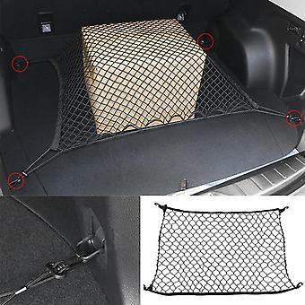 Kofferraum hintere Aufbewahrung Strumpf Gepäck Nylon elastischen Netzhalter mit 4 Kunststoff