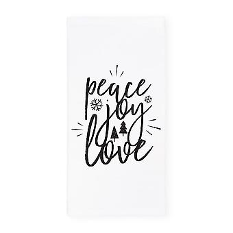Peace, Joy, Love Christmas Kitchen Tea Towel