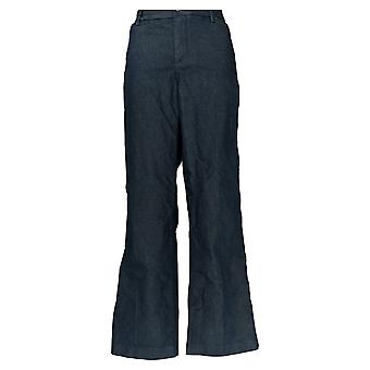 Lee Women's Petite Pants Mid Rise Trousers w / Pockets Blue