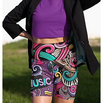 Muziek High Waist Yoga Shorts