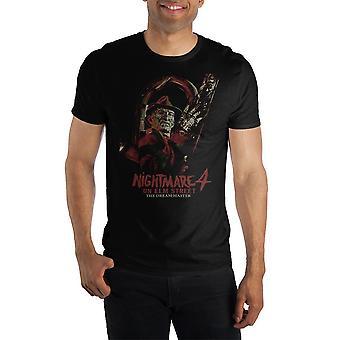 Painajainen jalavakadulla 4: unelmien mestarimiehistön kaula lyhythihainen t-paita