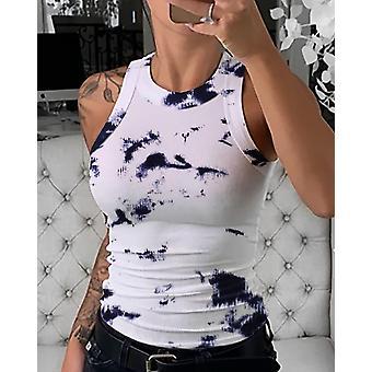 Kesä Beachwear Butterfly Printed Tee Toppit Slim Naisten Liivit