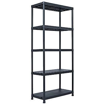 Storage shelf Black 500 kg 90 x 60 x 180 cm Plastic