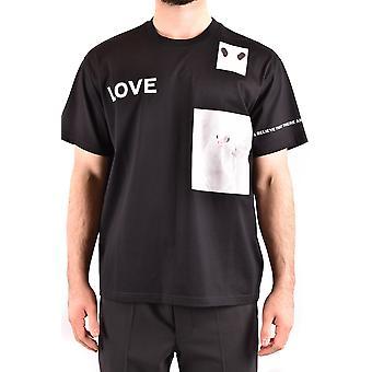Burberry Ezbc001335 Men's Zwart Katoen T-shirt