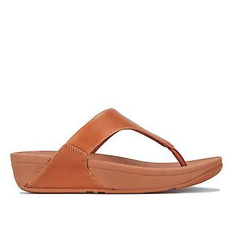 Women's Fit Flop Lulu Leather Toe Thong Sandálias em Marrom